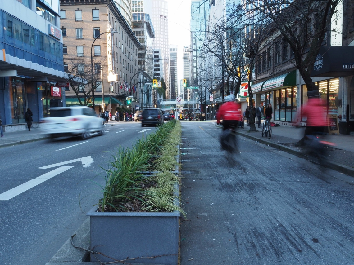 Protected Bike Lane Vancouver