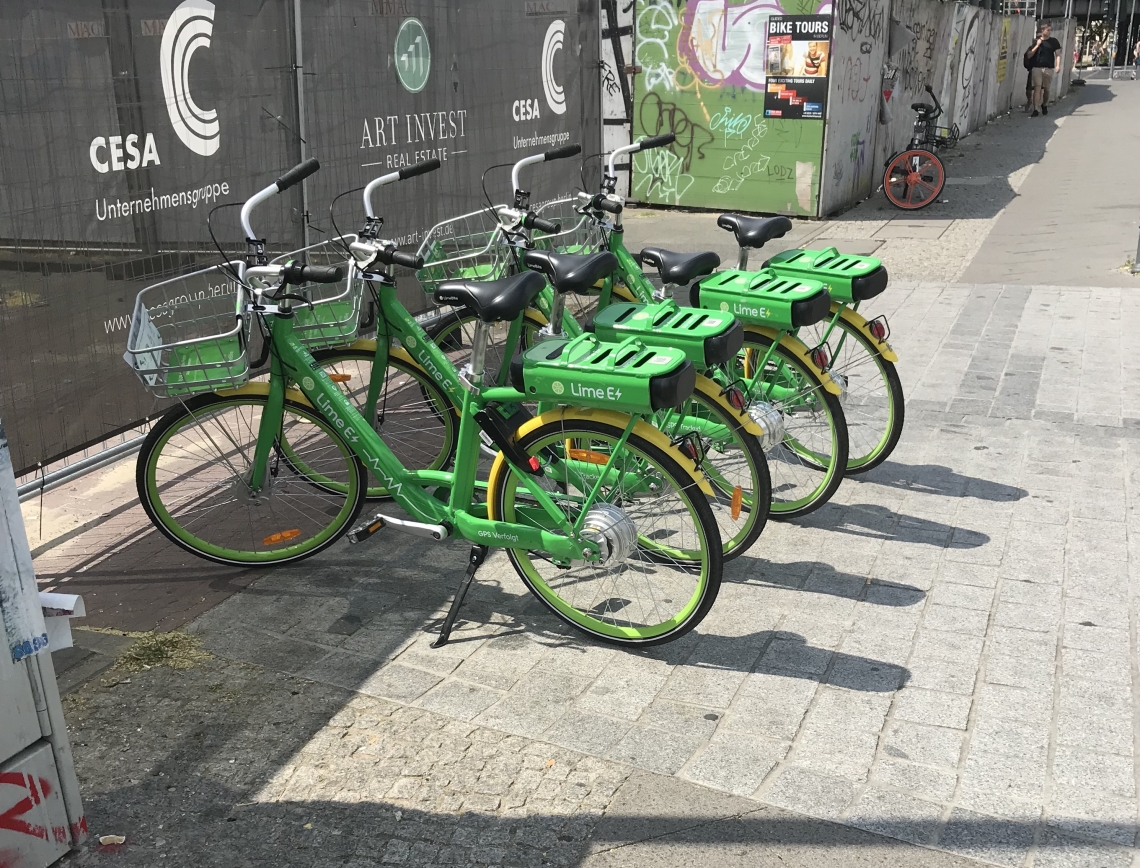 Lime eBikes in Berlin